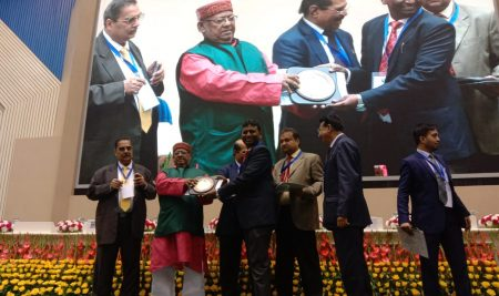 Our Faculty Receiving Award from Honorable Minister of Railways and Commerce